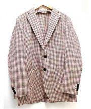 TOMORROW LAND(トゥモローランド)の古着「ギンガムチェックジャケット」|レッド×ブラック