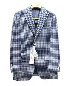 PAL ZILERI(パルジレリ)の古着「テーラードジャケット」|ブルー×ホワイト