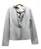 NARA CAMICIE(ナラカミーチェ)の古着「フリルジャケット」|グレー