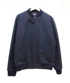 A.P.C(アーペーセー)の古着「ヘリンボーンウールジャケット」|ネイビー
