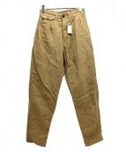 NIGEL CABOURN(ナイジェルケーボン)の古着「4プリーツタックパンツ」|ベージュ