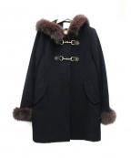 ef-de(エフデ)の古着「フォックスファーコート」|ブラック