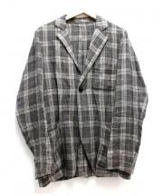 nest Robe CONFECT(ネストローブコンフェクト)の古着「リネンチェックジャケット」 ブラウン