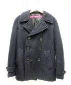 sage de cret(サージュ デクレ)の古着「モヘヤ混メルトンPコート」|ネイビー