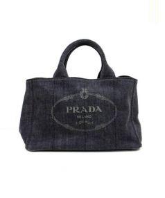 PRADA(プラダ)の古着「2WAYデニムトートバッグ」|ブラック