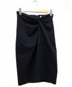 NARA CAMICIE(ナラカミーチェ)の古着「フロントツイストスカート」|ブラック