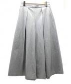 6(ROKU)BEAUTY&YOUTH(ロク ビューティアンドユース)の古着「タック7レングスフレアパンツ」|グレー