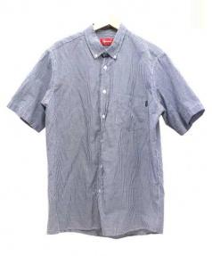 SUPREME(シュプリーム)の古着「ギンガムチェックシャツ」|ホワイト×ネイビー