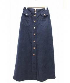 SEE BY CHLOE(シーバイクロエ)の古着「コーデュロイマキシスカート」|ネイビー