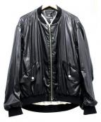 FAD THREE(ファドスリー)の古着「シャイニーMA-1」 ブラック