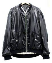 FAD THREE(ファドスリー)の古着「シャイニーMA-1」|ブラック
