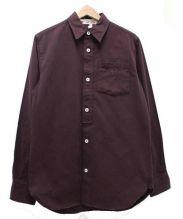 FRED PERRY × NIGEL CABOURN(フレッドペリー×ナイジェル・ケーボン)の古着「ロングスリーブシャツ」|ボルドー
