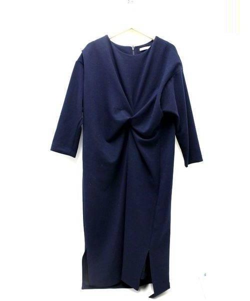 CLANE(クラネ)CLANE (クラネ) ツイストディティールワンピース ネイビー サイズ:1 定価¥26.000税抜の古着・服飾アイテム