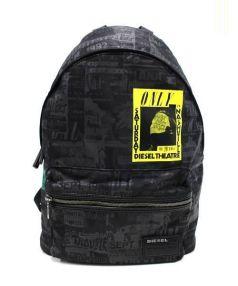 DIESEL(ディーゼル)の古着「プリントバックパック」 ブラック