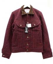Lee(リー)の古着「襟コーデュロイウールジャケット」 レッド