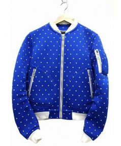 PHENOMENON(フェノメノン)の古着「ボンディングジップブルゾン」|ブルー