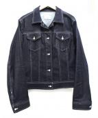 ef-de(エフデ)の古着「ビジューボタンデニムジャケット」|インディゴ