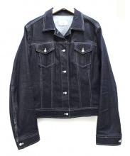 ef-de(エフデ)の古着「ビジューボタンデニムジャケット」 インディゴ