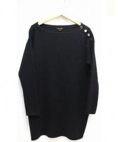 Drawer(ドゥロワー)の古着「ショルダーボタンワンピース」|ブラック