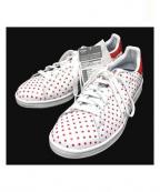 adidas×PHARRELL WILLIAMS(アディダス×ファレル・ウィリアムス)の古着「ローカットスニーカー」|ホワイト×レッド