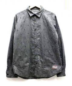 NEIGHBORHOOD×OriginalFake(ネイバーフッド×オリジナルフェイク)の古着「ステッチコットンシャツ」|グレー