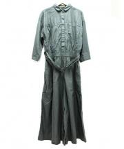 IENA(イエナ)の古着「ツイルシャツオールインワン」|グリーン