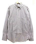 Black Fleece(ブラックフリース)の古着「チェックBDドレスシャツ」|ピンク