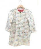 Coohem(コーヘン)の古着「ノーカラーコート」|ホワイト