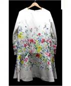 CHESTY(チェスティ)の古着「フラワーサテンワンピース」|ホワイト