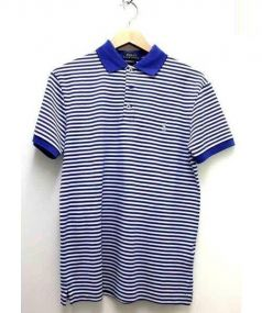 POLO RALPH LAUREN(ポロ バイ ラルフローレン)の古着「ボーダーポロシャツ」|ブルー