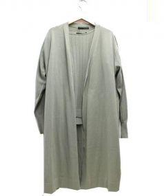 22 OCTOBRE(ヴァンドゥーオクトーブル)の古着「ロングリブツインニット」 カーキ