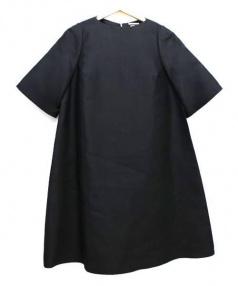 IENA(イエナ)の古着「シルクフレアーワンピース」|ブラック