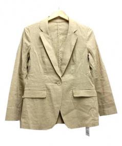 23区(23区)の古着「【洗えるスーツ】LI/VISストレッチジャケット」|ベージュ