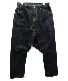 GANRYU(ガンリュウ)の古着「綿セルビッチデニムパンツ」 ブルー