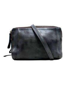 genten(ゲンテン)の古着「ゴートヌメボックスミニショルダーバッグ」|ネイビー