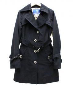 BURBERRY BLUE LABEL(バーバリーブルーレーベル)の古着「トレンチコート」|ブラック×ベージュ