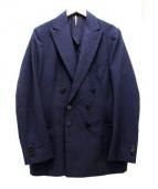 ms braque(エムズ ブラック)の古着「ダブルジャケット」|ネイビー