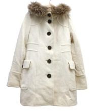 BURBERRY BLUE LABEL(バーバリーブルーレーベル)の古着「ラクーンファーコート」|アイボリー