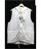Engineered Garments(エンジニアードガーメンツ)の古着「ナイロンジップベスト」|ホワイト