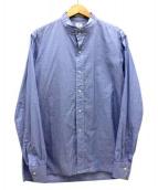 ANATOMICA(アナトミカ)の古着「バンドカラーシャツ」|ブルー