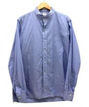 ANATOMICA(アナトミカ)の古着「バンドカラーシャツ」 ブルー