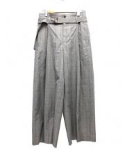 1er-Arrondissement(プルミエ アロンディスモン)の古着「グレンチェックワイドパンツ」|グレー