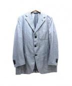 Belvest(ベルベスト)の古着「3Bジャケット」|ネイビー×ホワイト