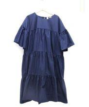 TOMORROW LAND×merlette(トゥモローランド×マーレット)の古着「ST GERMAIN ボリュームティアードドレス」|ブルー