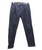 ENTRE AMIS(アントレアミ)の古着「プリーツストレッチデニム」|インディゴ