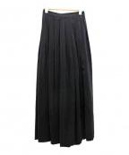 DAMIR DOMA(ダミールドマ)の古着「シルクプリーツワイドパンツ」|ブラック