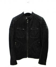 Belstaf(ベルスタッフ)の古着「パンチングレザージャケット」|ブラック