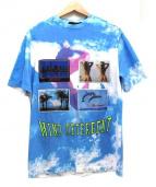 ALEXANDER WANG(アレキサンダーワン)の古着「ポストカードプリントTシャツ」|ブルー×ホワイト