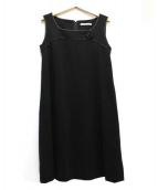 FOXEY NEWYORK(フォクシーニューヨーク)の古着「ノースリーブドレス/Calla」|ブラック