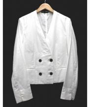 iCB(アイシービー)の古着「Airy Lightノーカラージャケット」|ホワイト